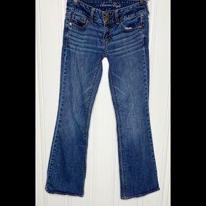 American Eagle Medium Wash Artist Bootcut Jeans 2